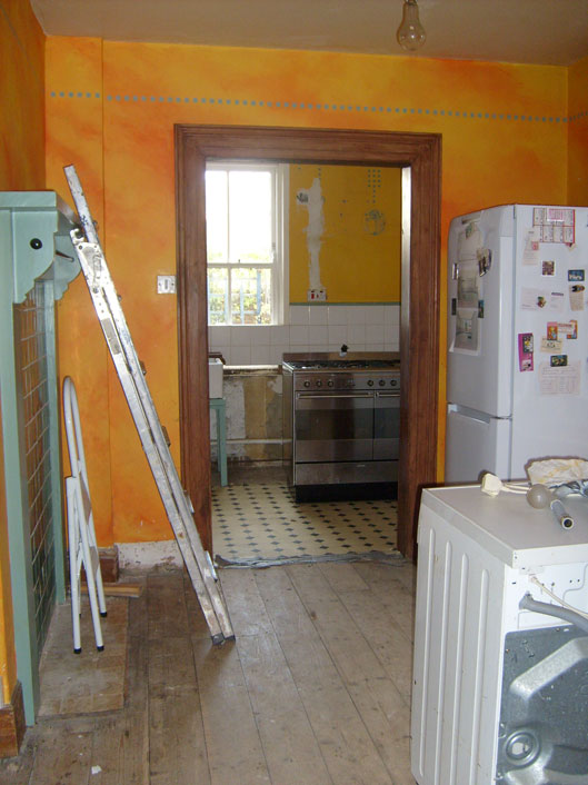 Old kitchen ready to be demolished