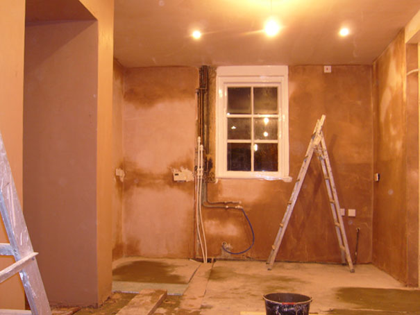 Plastered walls